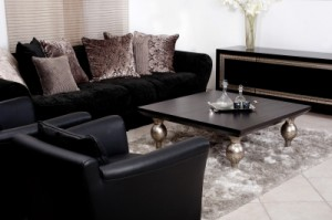 A clean living room from house cleaning services