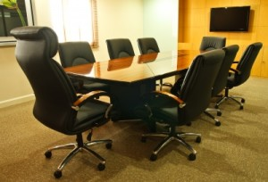A cleaned office by janitorial services