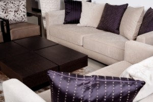 Deep cleaning in the living room by cleaning services
