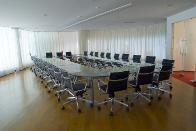 A cleaned meeting room by commercial cleaning services